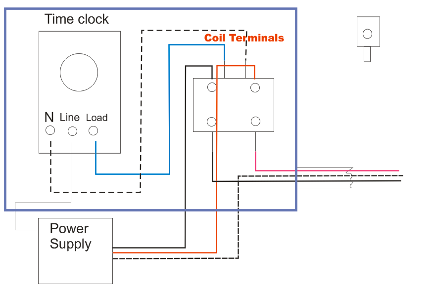 Wiring Diagram Single Pole Contactor With Timer Schematics Wiring